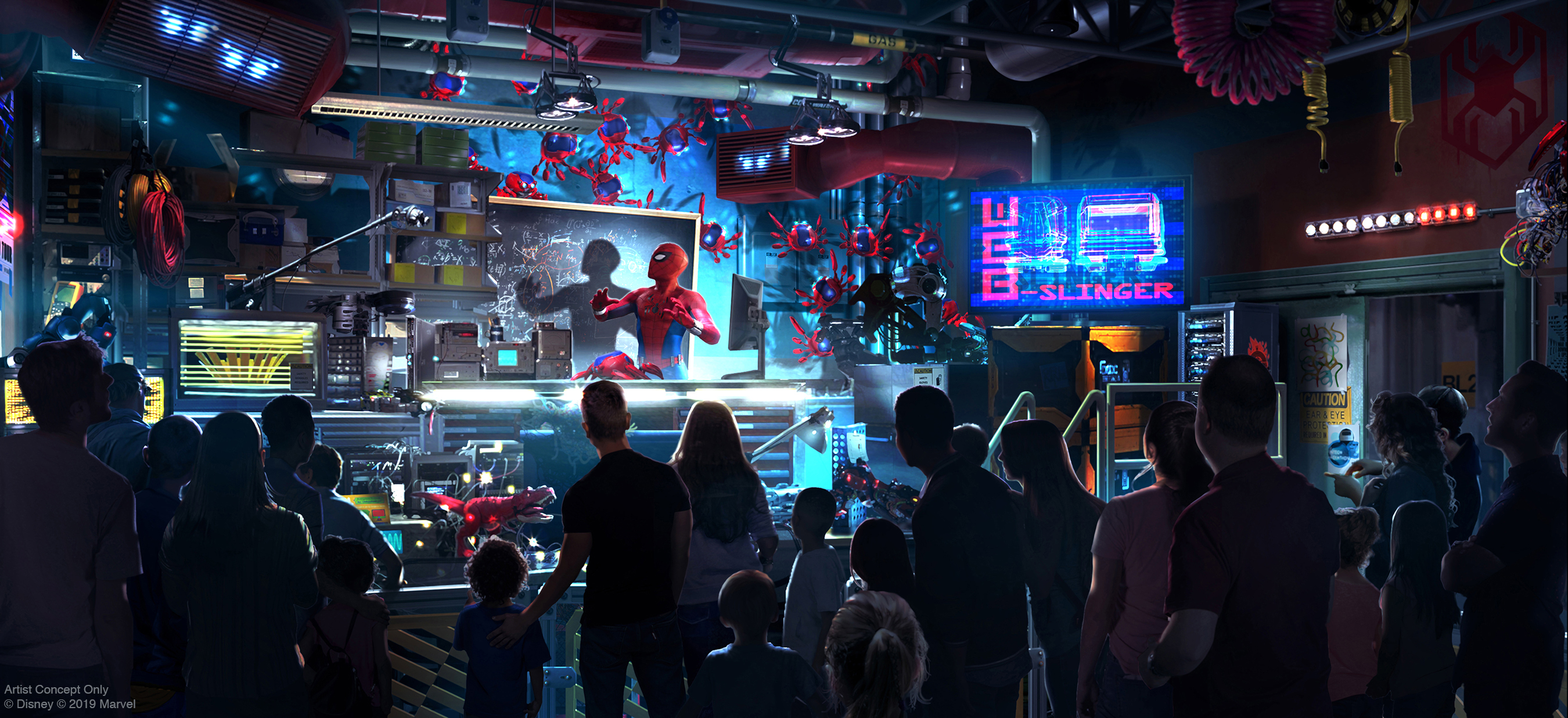 Avengers Campus Spider-Man Attraction